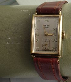 Osco, Parat, never worn, men's watch, 1940s.