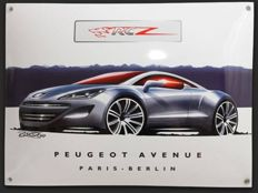 Original percelain enamel sign - Peugeot 308 RCZ  - 40 x 30 cm