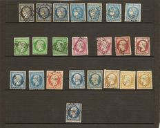 France 1849/1870 - classic lot including red cancellation on Yvert no 14