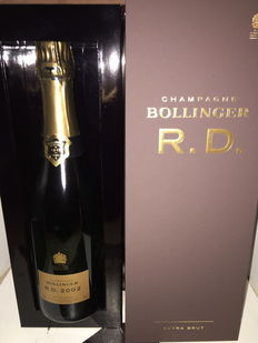 2002 Bollinger RD Extra brut champagne - 1 bottle with gift box