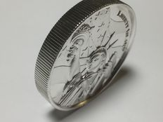 USA - 2 oz Liberty Island - ultra high relief - with 3D effect - AG 999 silver coin - silver - American landmarks series