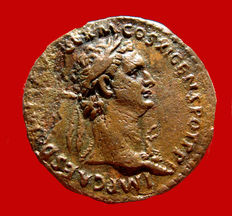Roman Empire - Domitian (81-96 A.D.), bronze as ( 6,66 g. 27 mm.), Rome mint, IOVI CONSERVAT. S/C. Jupiter. Rare