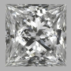 0.45ct IGI Princess Cut E IF -Original Image-10X - Serial# 1585