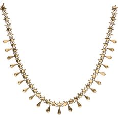 14 kt yellow gold link necklace – length: 41.4 cm