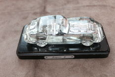 Jaguar E-Type convertible model - Magic Chrystal Nachtmann Hofbauer lead crystal - 18x 7 x 5 cm