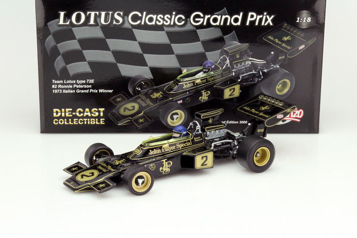 Quartzo - Schaal 1/18 - Team Lotus type 72E #2 Italian Grand Prix Winner 1973