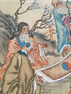 A nice painting on silk -China - mid 20th century