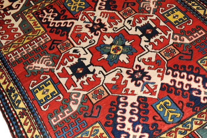 Kasim Ushak Kazakh, wonderful antique carpet, approx. 251 x 134 cm