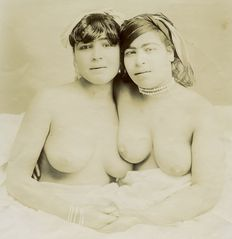 Anonymous - Two young women, half nude