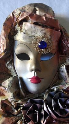 Beautiful carnival papier-mâché mask