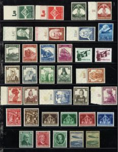 German Reich 1935/1936 – Selection including Reichsberufswettkampf, 100 jahre eisenbahn, and Trachten, among other things – Michel 571/620