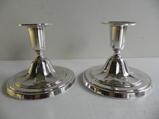 Two silver candle stands, CGH, Stockholm, Sweden, 1955