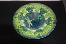 Sally Tuffin - Frog and Dragonfly Shallow Bowl