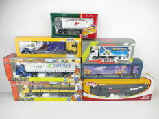 Joal / Lion Toys / Corgi - Scale 1/50 - Lot with 7 trucks: Volvo, DAF, Mercedes-Benz & AEC