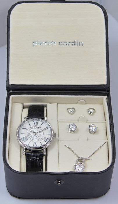 c4f6afd1756235 Pierre Cardin – Ladies watch – Necklace and earrings – Gift set – Brand new