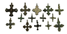 Collections of Rare bronze cross/ Viking period - (14)
