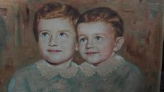 Unknown artist, signed by Mazzotti - Children faces - 19th/20th century