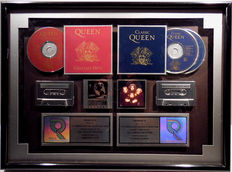 Queen - Greatest Hits - Classic Queen - US RIAA Multi Platinum Music Award goldene Schallplatte - original Sales Music Record Award ( Golden Record )