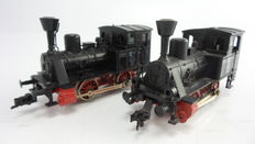 "Fleischmann H0 - 4000 - 2 Tender locomotives R2 ""Anna Industry locomotive"" Maffei 1909 for industrial purposes of the DB"