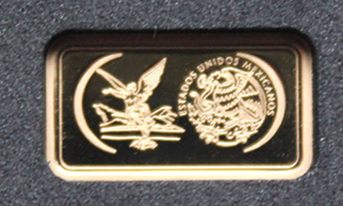 "Famous gold coin as GOLD BAR ""Libertad, Mexico"" - gold"
