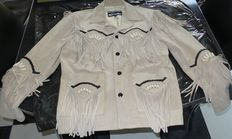 Kerozen country - Suede country jacket with fringe M (L)