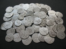 Russia/Golden Horde/Crimean Khanate - 55 Various Silver Coins (Dang, Beshlyk, Aqche) of 16th-17th century