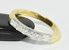0.65 ct diamond ring in 18 kt gold * no reserve *