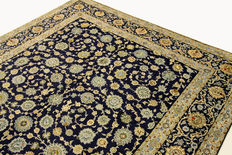 Original Kashan carpet by the knotting master Isfahani, Persian carpet 3.32 x 2.42, oriental carpet, very fine, GREAT condition
