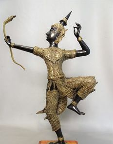 Large bronze statue of Rama – Thailand – late 20th century