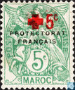 Type Blanc, Red Cross overprint