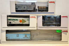 Märklin H0 - 48110/-150/-158/-096 - Museum carriage from 1996 and 3 various carriages
