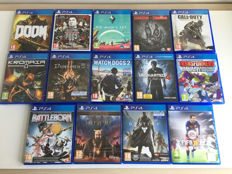 14x Playstation 4 games; Watch Dogs 2, Uncharted 4, No Man's Sky etc