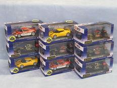 Corgi - Scale 1/43 - Lot with 9 models: 4 x F1 & 2 x Evora S models
