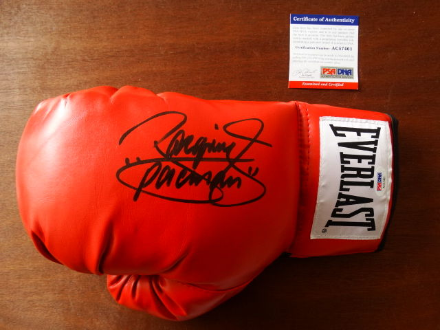 "Manny ""Pacman"" Pacquiao World Champion Everlast glove with original autograph + COA"