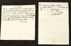 Original signed letter by Giovanni Battista Paletta, medical doctor of Napoleon - 1803