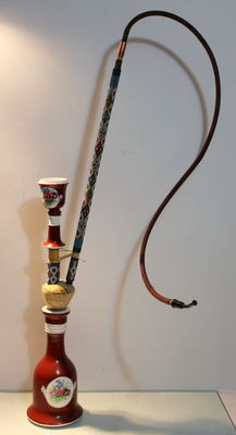 VERY RARE ANTIQUE IMPERIAL RUSSIAN GARDNER PORCELAIN OPIUM PIPE !!!