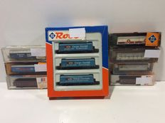 Roco/Fleischmann N - 24009/02326/25438/8240/25355/291101 - 10 different freight cars from several companies (lot 708)