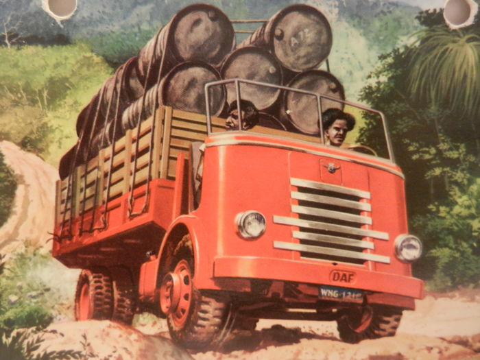 DAF commercial vehicle brochures and information from 1948 onward.