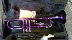 Trumpet ChS TR110PU with solid case, Bb, colour purple