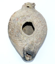 Late Roman Terracotta Oil Lamp - 95 mm