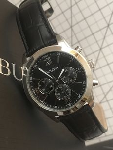"Bulova ""Chronograph"" -- men's wristwatch -- 2017 -- unworn, mint condition."