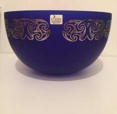 Ettore Sottsass (Egizia HWC) - Cobalt and platinum signed bowl