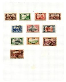 Iraq 1918/1960 - collection on 16 album leaves and 4 pages of Transjordan.