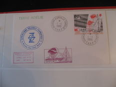 TAAFS – Collection of letters having travelled during scientific mission