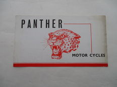 PANTHER - Originele oude folder Panther motorfiets - circa 1939