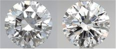 Pair of Round Brilliant Diamonds DIF total 1.00ct IGI serial # 100-103