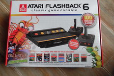 Atari Flashback classic game console built in 6 games 100 2 wireless controlers