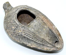 Late Roman Terracotta Oil Lamp - 105 mm