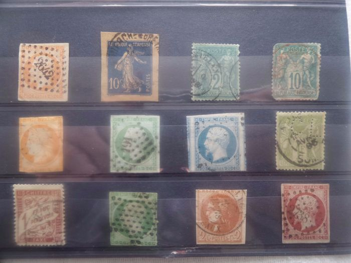 France - Collection from 1851 forward in stock cards.