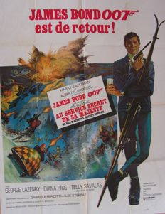 James Bond On Her Majesty's Secret Service - original filmposter - 1969
